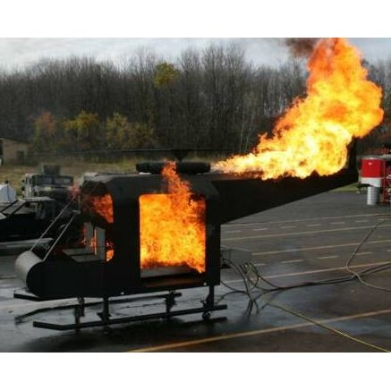 UH-1 Huey Helicopter Fire Training Prop